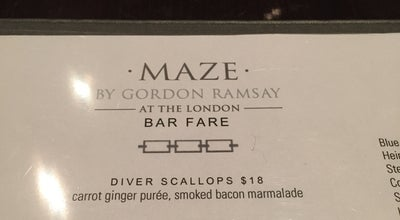 Photo of American Restaurant Maze by Gordon Ramsay at The London NYC at 151 W 54th St, New York, NY 10019, United States