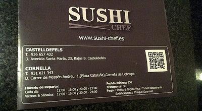Photo of Sushi Restaurant Sushi Chef Castelldefels at Av. Santa Maria, 23, Castelldefels 08860, Spain