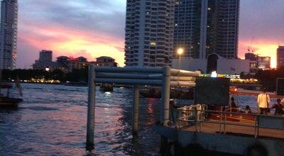 Photo of Pier ท่าเรือสาทร (ตากสิน) Sathorn (Taksin) Pier CEN at Sathon Rd, Bang Rak 10500, Thailand