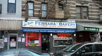 Photo of Bakery La Bella Ferrera at 108 Mulberry St, New York, NY 10013, United States