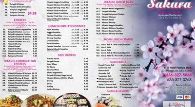 Photo of Sushi Restaurant Sakura Hibachi & Sushi at 1119 W Pearce Blvd, Wentzville, MO 63385, United States