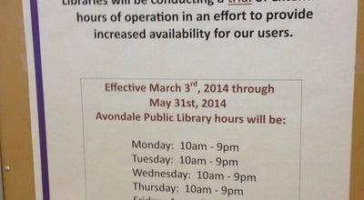 Photo of Library Avondale Civic Center Library at 11350 W Civic Center Dr, Avondale, AZ 85323, United States