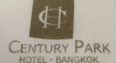Photo of Hotel Century Park Hotel at 9 Ratchaprarop Rd., Ratchathewi 10400, Thailand