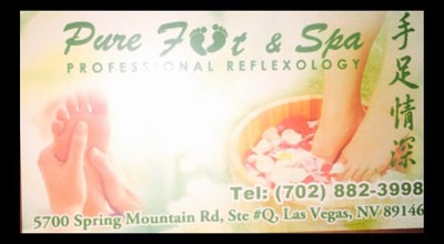 Photo of Spa Pure Foot & Spa at 5700 Spring Mountain Rd, Las Vegas, NV 89146, United States