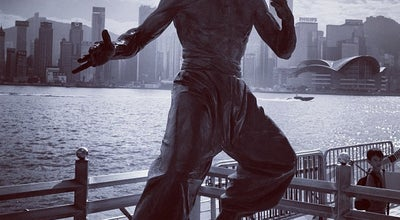 Photo of Outdoor Sculpture Bruce Lee Statue 李小龍像 at Garden Of Stars, Salisbury Rd, Hong Kong, Hong Kong