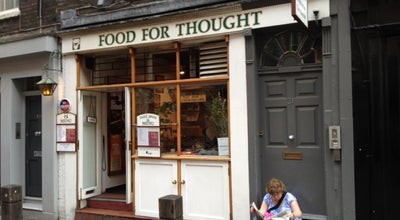 Photo of Vegetarian / Vegan Restaurant Food For Thought at 31 Neal St, Soho WC2H 9PR, United Kingdom
