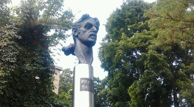 Photo of Monument / Landmark Paminklas Frankui Zappai K.   Frank Zappa monument at Kalinausko Gatvė, Vilnius, Lithuania