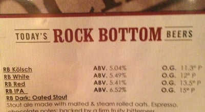 Photo of Brewery Rock Bottom Restaurant & Brewery at 4508 University Ave, West Des Moines, IA 50266, United States