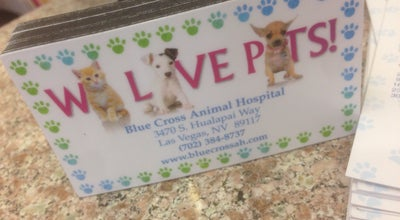 Photo of Veterinarian Blue Cross Animal Hospital at 3470 S Hualapai Way, Las Vegas, NV 89117, United States