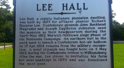 Photo of History Museum Lee Hall Mansion at 163 Yorktown Rd, Newport News, VA 23603, United States