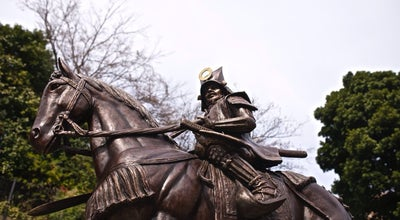 Photo of Monument / Landmark 加藤嘉明公騎馬像 at 大街道3-8-22, 松山市 790-0004, Japan