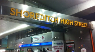 Photo of Train Station Shoreditch High Street London Overground Station at Braithwaite St, Shoreditch E1 6GJ, United Kingdom