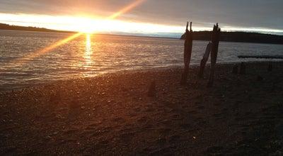 Photo of Beach Chambers Bay Beach Park at University Place, WA 98467, United States