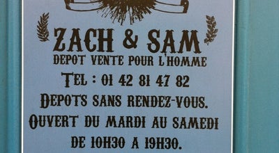 Photo of Men's Store Zach & Sam at Paris 75009, France