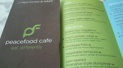 Photo of Vegetarian / Vegan Restaurant Peacefood Cafe at 460 Amsterdam Ave, New York, NY 10024, United States
