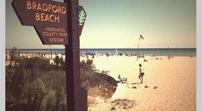 Photo of Beach Bradford Beach at 2400 N Lincoln Memorial Dr, Milwaukee, WI 53211, United States