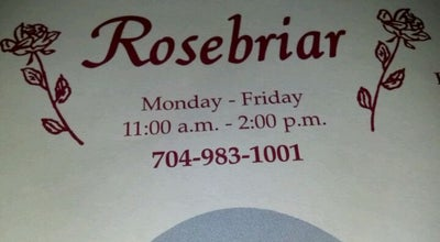 Photo of American Restaurant Rosebriar at 528 Wiscassett St, Albemarle, NC 28001, United States