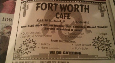 Photo of BBQ Joint Fort Worth Cafe at 526 S 5th St, Keokuk, IA 52632, United States
