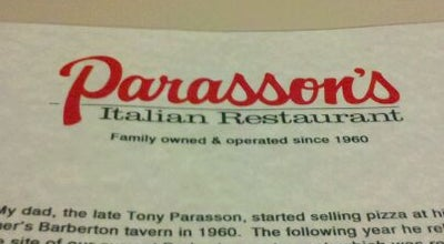 Photo of Italian Restaurant Parasson's Italian Restaurant at 959 E Waterloo Rd, Akron, OH 44306, United States