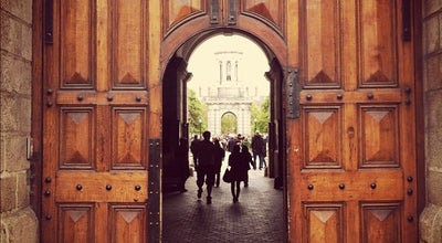 Photo of General College and University Trinity College Front Gates at College St., Dublin 2, Ireland