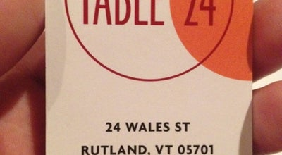 Photo of New American Restaurant Table 24 at 24 Wales St, Rutland, VT 05701, United States