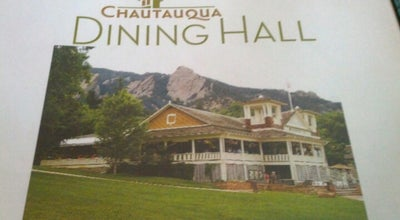 Photo of American Restaurant Chautauqua Dining Hall at 98 Clematis Dr., Boulder, CO 80302, United States