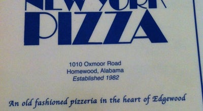 Photo of Pizza Place New York Pizza at 1010 Oxmoor Rd, Homewood, AL 35209, United States