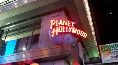 Photo of American Restaurant Planet Hollywood at 1540 Broadway, New York, NY 10036, United States