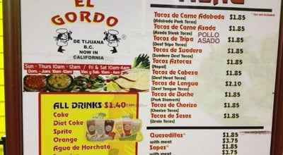 Photo of Taco Place Tacos El Gordo 3 at 1940 Highland Ave, National City, CA 91950, United States