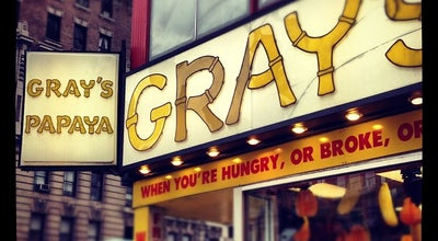Photo of Fast Food Restaurant Gray's Papaya at 2090 Broadway, New York, NY 10023, United States
