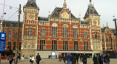 Photo of Train Station Station Amsterdam Centraal at Stationsplein 15, Amsterdam 1012 AB, Netherlands