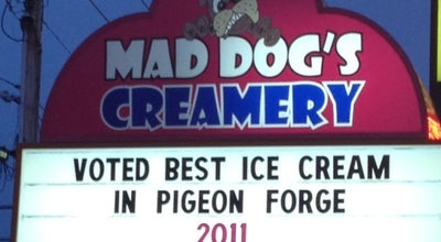 Photo of Ice Cream Shop Mad Dog Creamery at 3048 Parkway, Pigeon Forge, TN 37863, United States