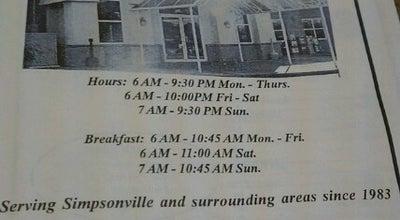 Photo of American Restaurant Carolina Fine Foods at 625 Se Main St, Simpsonville, SC 29681, United States