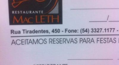 Photo of Brazilian Restaurant Mac Leth at R. Tiradentes, 450, Passo Fundo, Brazil
