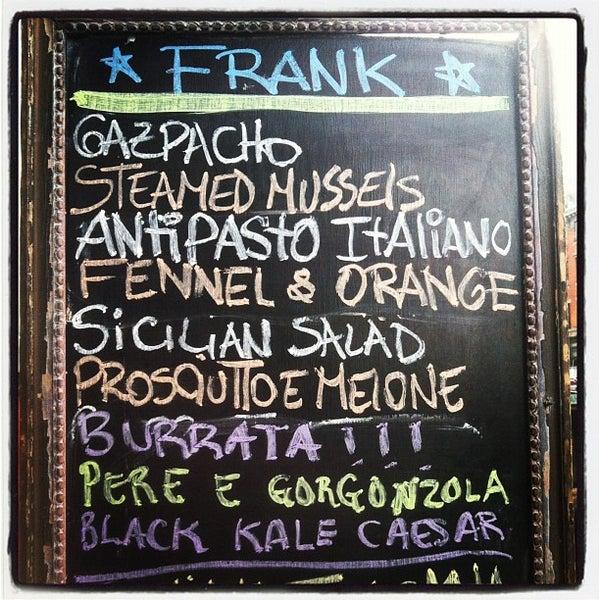 Frank Restaurant Italian Restaurant In East Village