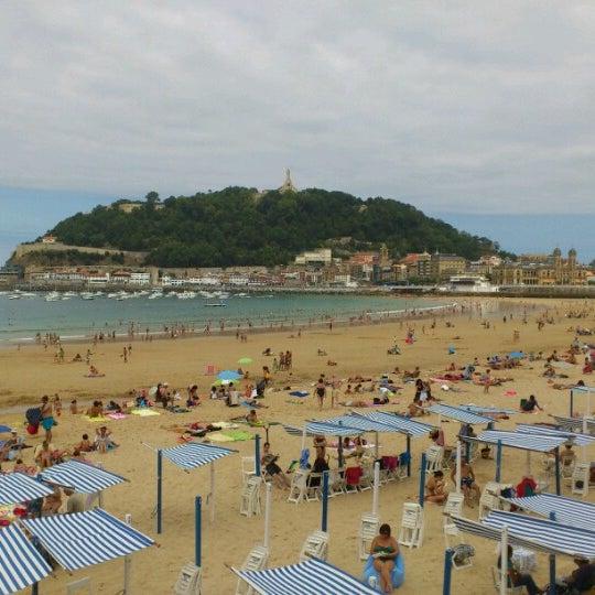 Photo taken at Paseo de La Concha by Carla A. on 8/22/2012