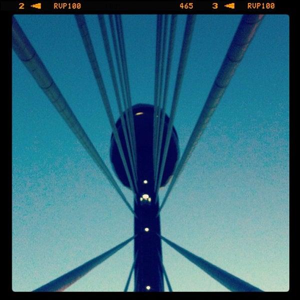 Photo taken at Ponte Estaiada by Irakerly F. on 10/29/2011