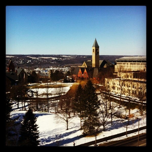 Photo taken at Cornell University by Liz L. on 2/13/2012