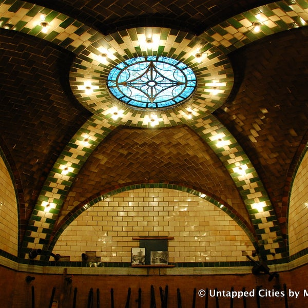 A beautiful decommissioned subway stop sits below the park. See it on a tour with the Transit Museum or stay on the 6 train after Brooklyn Bridge station. Find out more: