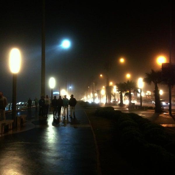 Photo taken at La Corniche de Casablanca by Yaroslav 🌟 L. on 11/1/2013