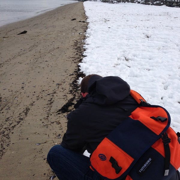Photo taken at East End Beach by Tammy G. on 1/19/2014