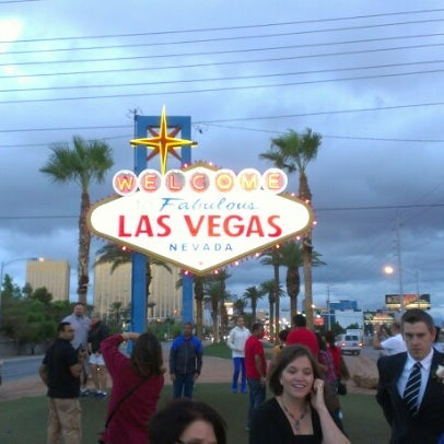 Photo taken at Welcome To Fabulous Las Vegas Sign by Luke on 10/12/2012