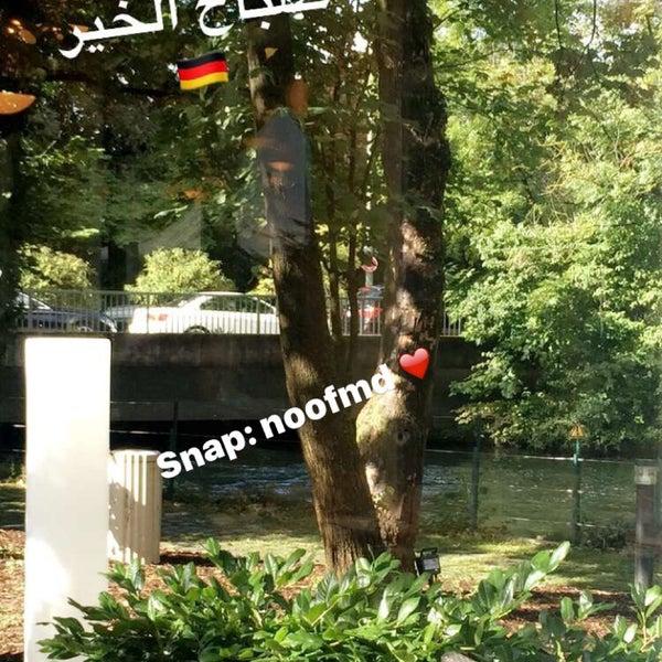 Photo taken at Hilton Munich Park by noof M. on 9/5/2016