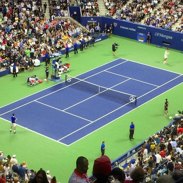 Photo taken at US Open Tennis Championships by Sriram K. on 9/13/2015