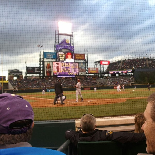 Photo taken at Coors Field by Dina B. on 5/21/2013