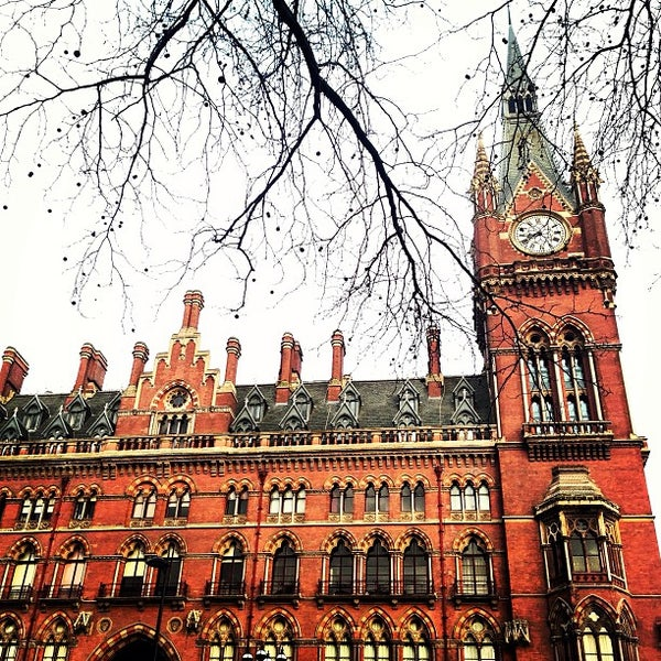 Photo taken at London St Pancras International Railway Station (STP) by Lidia S. on 1/11/2013