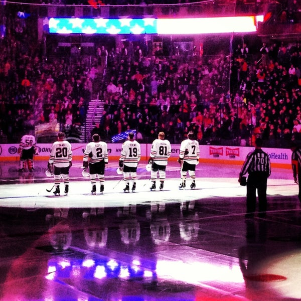Photo taken at Nationwide Arena by Stephanie R. on 1/28/2013