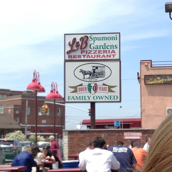 Photo taken at L&B Spumoni Gardens by Stacey on 5/16/2013