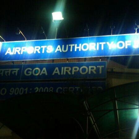 Photo taken at Dabolim Goa International Airport (GOI) by M a y e n k a R R. on 5/25/2013