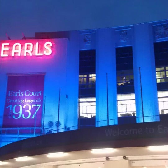 Photo taken at Earls Court Exhibition Centre by Am P. on 2/22/2013